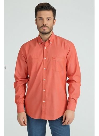 Comienzo Uzun Kollu Gömlek Oranj